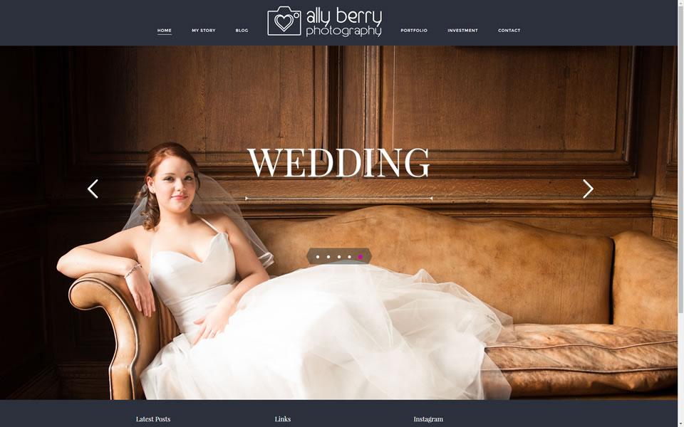 Ally Berry Website Screenshot 1