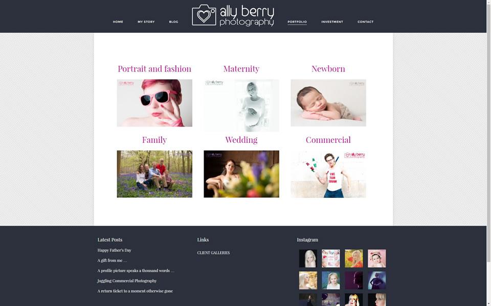 Ally Berry Website Screenshot 3