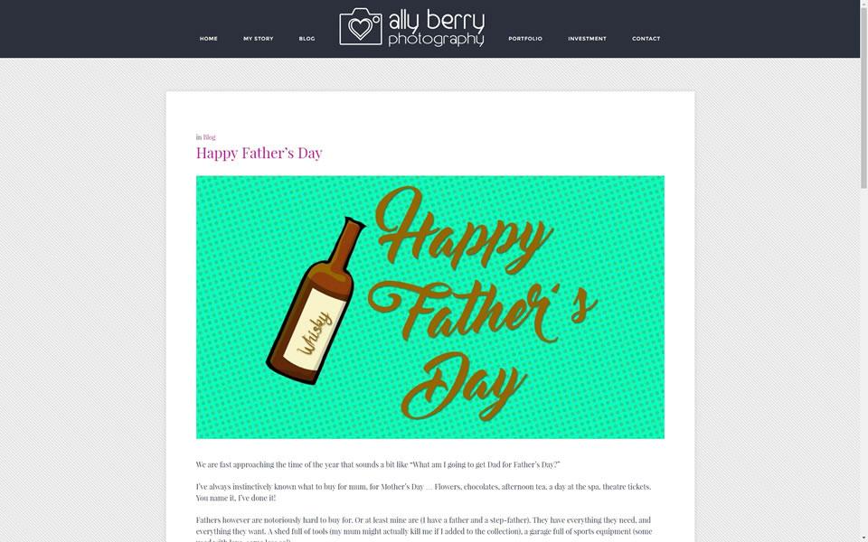 Ally Berry Website Screenshot 5